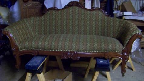 Furniture Repair Sofa Before; Furniture Repair After; Knee Hole Desk;  Reupholster Sofa ...