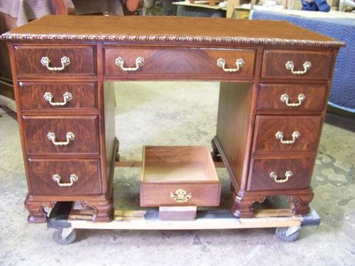Beau Furniture Repair Sofa Before · Furniture Repair After · Knee Hole Desk ...